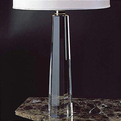 BASE P/ ABAJUR Bella Ilumy XL1151 CLASSIC Pilar Cristal Cromado Transparente 49CMH 1XE27-