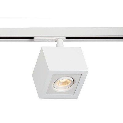 Spot Trilho Newline NLN 560AB BOX LED Quadrado Clean 3W 3000K Luz Quente 225LM 127/220V 90X90X114MM ADAPTADOR BRANCO