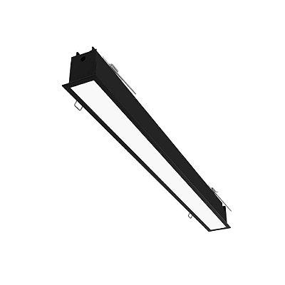 Plafon EMBUTIDO Newline NLN FIT 40 LED Perfil Moderno EM0401LED4 16W 4000K Luz Fria 127/220V 595X52X70MM