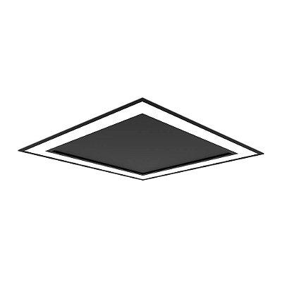 Plafon EMBUTIDO Newline NLN FIT EDGE Led Quadrado Moderno EM0122LED3 25,2W 3000K Luz Quente 127/220V 295X295X40MM