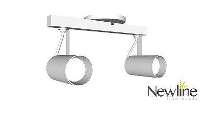 SPOT Newline NLN IN55626 LISSE II Sobrepor Duplo TRILHO 2 PAR16  50W 320X150X155MM