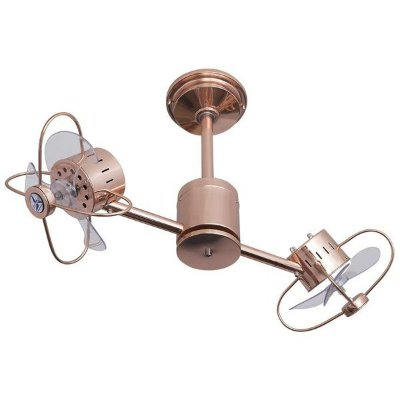 Ventilador De Teto Treviso Ind TRV101 Duplo Infinity Cobre Sem Controle