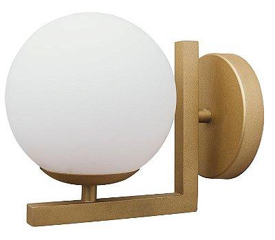 ARANDELA ANGULAR 16459/14 Usina Iluminação Moderna com GLOBO Vidro Ø 140mm 140x155x190