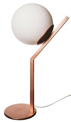 Abajur ANGULAR Usina Iluminação 16457/20  Moderno com GLOBO Vidro Ø20cm x Ø26x52cm  1 E27