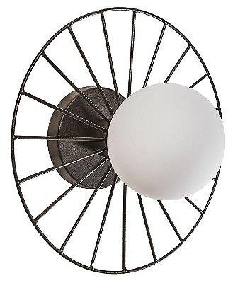 ARANDELA PLAFON BIKE Usina Iluminação 17195/38 Redondo Aramado Moderno Esfera x Ø380x90 x 01 - E27