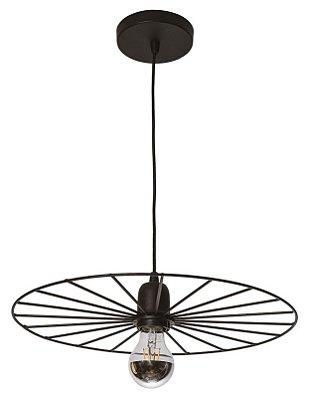 PENDENTE BIKE Usina Iluminação 17196/38 Redondo Aramado Moderno Esfera x Ø380x90x1000 x 01 - E27
