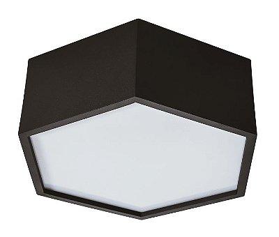 PLAFON HEXA 16420/25 Usina Iluminação Hexagonal Moderno  x Ø25x12cm x 2-E27