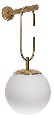 ARANDELA Usina Iluminação QUIRON 16610/1 Globo De Vidro Suspenso x Ø20 X 50,5 X 26,5 x 01 - E27