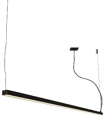 PENDENTE RÉGUA 16363/150 NAZCA Usina Iluminação Perfil Linear Haste Moderno   x 4,9 X 1,5M  X 4,7 (1m cabo) x Fita LED