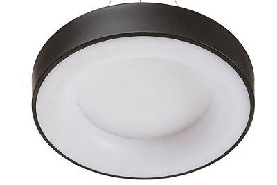 Plafon DÂNDI Redondo Usina Iluminação LED Quente Difusor EM ACRÍLICO Ilum. Direta Indireta x Ø34 X 9cm x LED16,4W 3000K/BIVOLT 19000/34 LED3