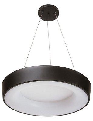 Pendente DÂNDI Redondo Usina Iluminação LED Quente Difusor EM ACRI. Ilum. Direta Indireta x Ø63 X 9cm X 1000 x LED32,8W 3000K/BIVOLT 19001/63 LED3