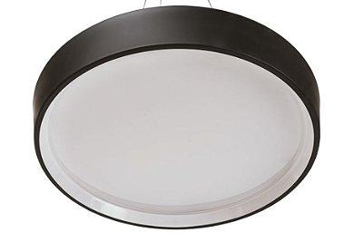 Plafon Rubi Usina Iluminação Led Difusor EM ACRÍLICO Redondo Ilum. Direta Indireta x Ø 44 X 14 x LED20,5W 4000K/BIVOLT