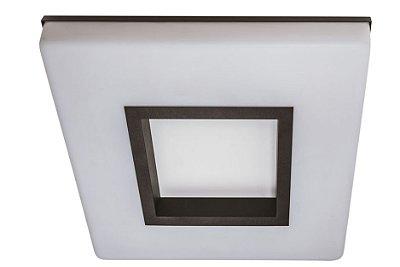 Plafon VIVAZ 19020/27 LED3 Usina Iluminação LED 3000k  Difusor Acrilico Quadrado Ilum. Direta Indireta x 270x270 x LED16,4W 3000K/BIVOLT