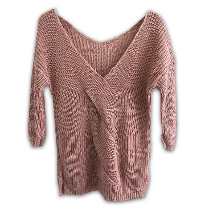Warm Up The Moment - Blusa Tricot Trançada em Rosa Soft