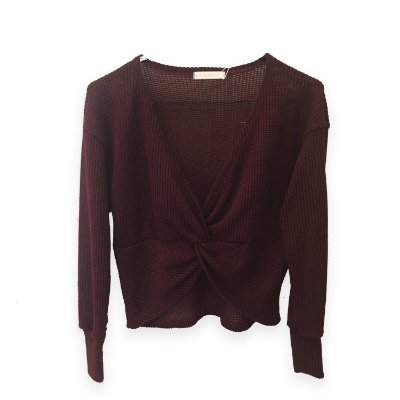 Sugary Breeze - Cropped Torcido em Tricot em Bordo