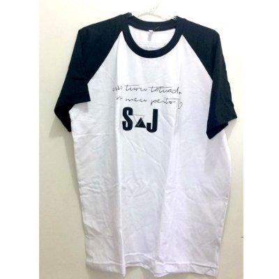 Camiseta Raglan G Branca - Turu Turu