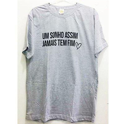 Camiseta M Cinza Mescla - Um sonho assim