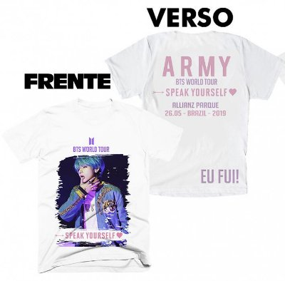 Camiseta BTS Speak Yourself Tour Brasil - 10