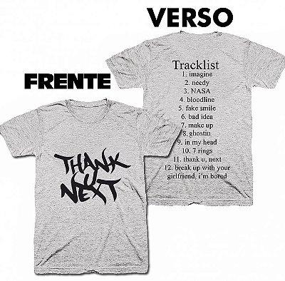 Camiseta Ariana Grande - Thank U, Next - Album TrackList