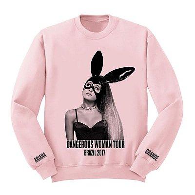 Moletom Rosa - Ariana Grande - Dangerous Woman Tour 3