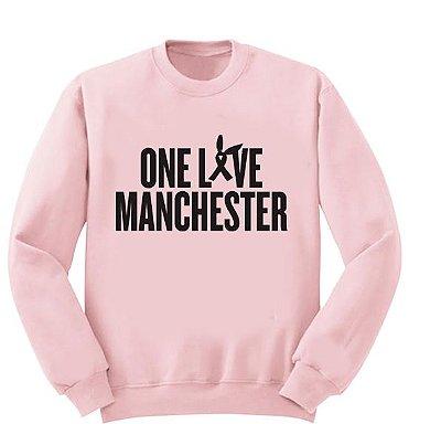 Moletom Rosa - Ariana Grande - One love Manchester