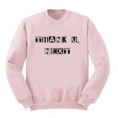 Moletom Rosa Ariana Grande - Thank U Next