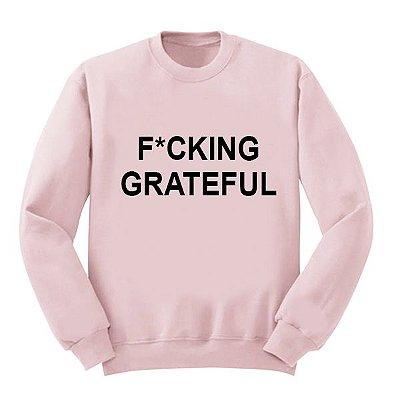 Moletom Rosa Ariana Grande - FUCKING GRATEFUL