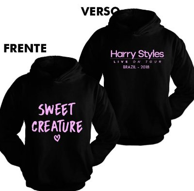 Moletom Harry Styles – Sweet Creature estampa rosa