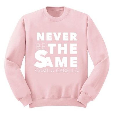 Moletom Rosa Camila Cabello – Never Be The Same 2