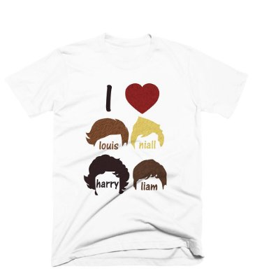 Camiseta One Direction – I Love