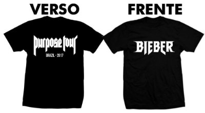 Camiseta Purpose Tour – Justin Bieber