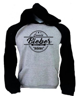 Moletom Raglan Justin Since Bieber Belieber