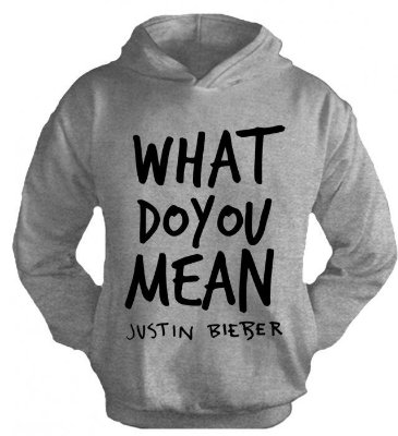 Moletom Justin Bieber – What do you Mean 2