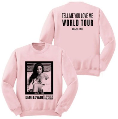 Moletom Rosa Demi Lovato – Tell Me World Tour 3