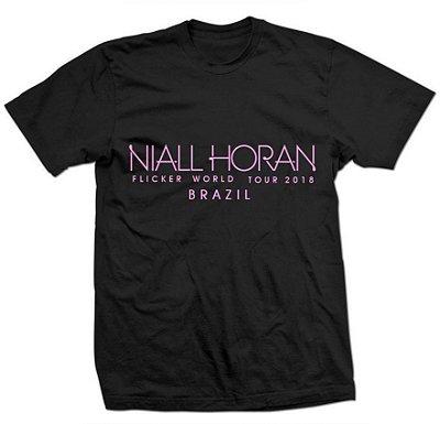 Camiseta Niall Horan – Estampa Rosa Flicker Tour