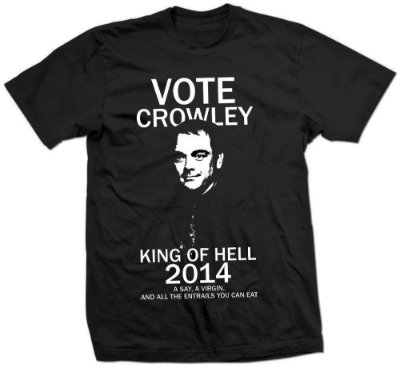 Camiseta Supernatural – Vote Crowley