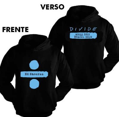 Moletom Ed Sheeran – Divide Tour 2 Estampa Azul