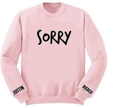Moletom Rosa Justin Bieber – Sorry