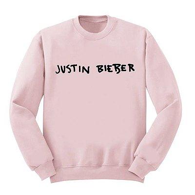 Moletom Rosa Justin Bieber