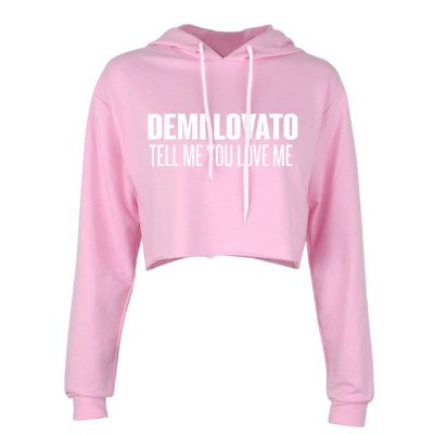 Moletom Cropped Demi Lovato – Tell Me You Love Me