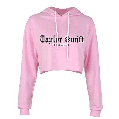 Moletom Cropped Taylor Swift – Reputation – Logo