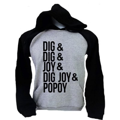 Moletom Raglan Sandy e Junior - Dig Dig Joy