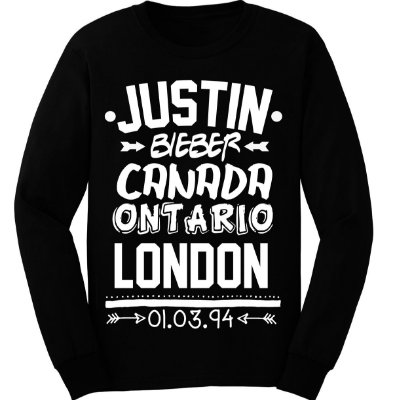 Camiseta Manga Longa – Birthday Justin Bieber
