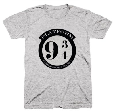 Camiseta Harry Potter – Plataforma 9 3-4