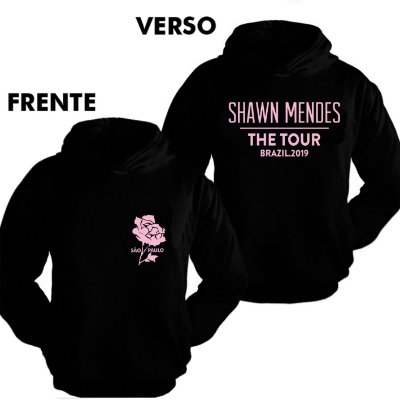 Moletom - Shawn Mendes The Tour - SP - Estampa rosa