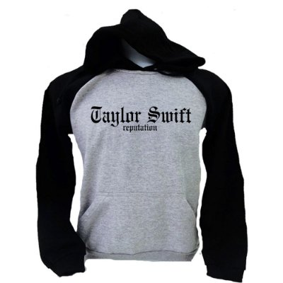 Moletom Raglan Taylor Swift – Reputation – Logo