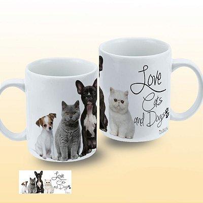 Caneca Gatos e Cachorros