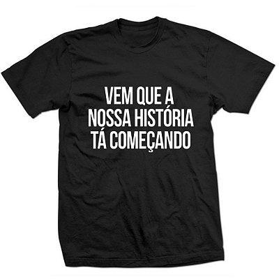 Camiseta Sandy e Júnior - Vem que a Nossa Historia-