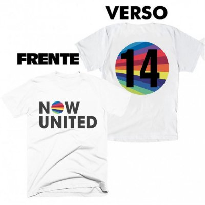 Camiseta Now United - frente e verso
