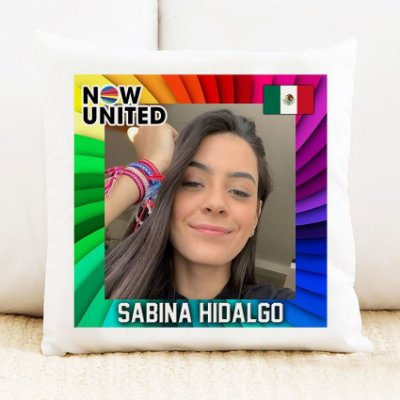 Almofada Now United - Sabina Hidalgo